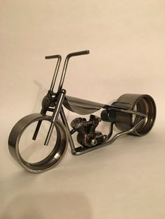 Hand made Motorycle sculpture made with by WrenchWorksCustom