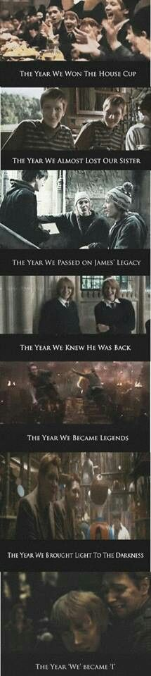 Funny pictures about Hogwarts as seen by the twins. Oh, and cool pics about Hogwarts as seen by the twins. Also, Hogwarts as seen by the twins. Images Harry Potter, Harry Potter Sad, Mundo Harry Potter, Harry Potter Quotes, Harry Potter Triste, Hogwarts, Slytherin, Familia Weasley, Golden Trio