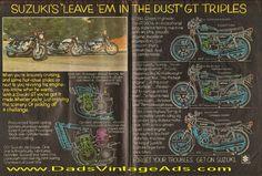 1977 Suzuki GT Triples – GT380, GT550, GT750 – Leave 'em in the dust