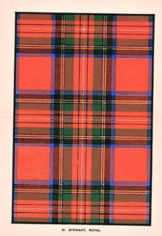 Chromolithograph - Chromolithograph - About 115 Years Old - The Scottish Clans…