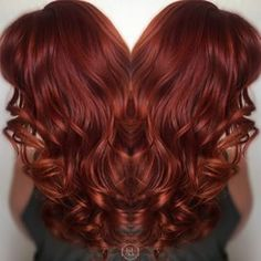 Love this bright vibrant red hair color