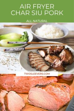 Make this amazing Cantonese Char Siu Pork recipe in your oven or air fryer! It's a traditional recipe made with my delicious homemade Char Siu sauce or an amazing ready-made sauce. Easy Chinese Recipes, Greek Recipes, Asian Recipes, Mexican Food Recipes, Lebanese Recipes, Jamaican Recipes, Char Siu Pork Recipe, Chinese Roast Pork, Pork Roast Recipes