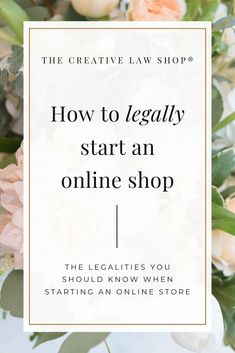 Are you thinking about selling products from an online shop?  Make sure you lay your legal foundation right from the start.  For more tips from a creative attorney and legal templates to protect your business, go to shopcreativelaw.com #contracts #