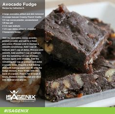 Avocado fudge! See all the life changing products we have or mail me for a custom plan at http://www.rockyourhealthteam.com