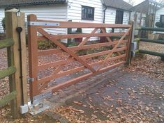 bespoke 6 bar farm style gate, underground automation