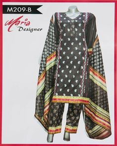 Maria Designer Lawn Maria Monsoon Embroidered Lawn Suits - 3 Piece Suits -  M209-B 3ad1d5e72