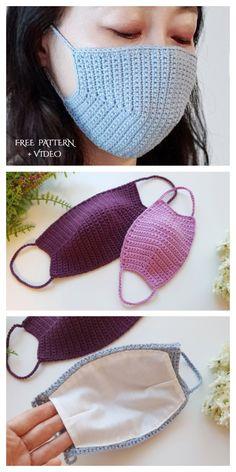 Crochet accessories 624452304572214185 - face masks free pattern in english Face Mask Free Crochet Patterns & Paid + Video – DIY Magazine Source by raycheleback Crochet Video, Free Crochet, Knit Crochet, Tutorial Crochet, Crochet Bikini, Chrochet, Blog Crochet, Crochet Mask, Crochet Faces