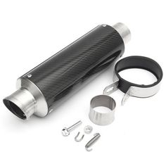 51mm Carbon Fiber Motorcycle Exhaust Pipe Racing Muffler Motogp Style