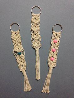 Macrame Keychains / Christmas & New Years Gift / Handmade /