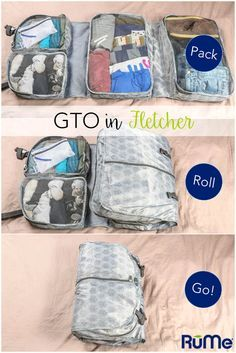 Bye-bye suitcase wrinkles and packing confusion. Hello, GTO! The RuMe Garment Travel Organizer (GTO) transforms your packing, unpacking and living-away-from-home process into utter bliss. This two-sid