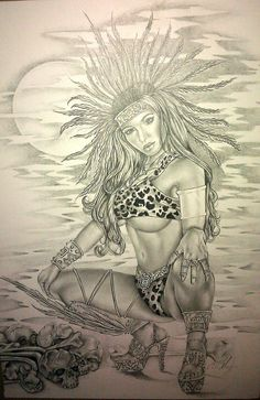 Aztec Gods | Aztec Goddesses Drawings Pictures