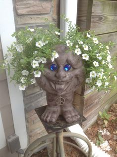 Groovy Head Planter