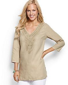 Tommy Bahama - Two Palms Medallion Tunic only in Aqua.