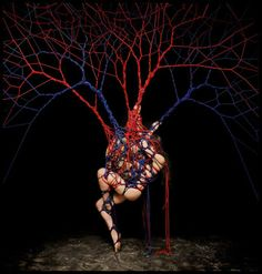 Garth Knight Artist incredible installation rope work/photograph 'Blood/Consciousness 2', 2013. (Model: Katja) in the December issue of Beautiful Bizarre Magazine - get your digital or print copy here http://www.beautifulbizarre.net/shop/4578400335