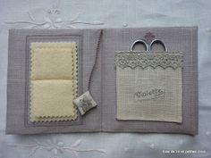 Toile de lin et petites croix: Violette
