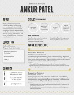 Amazing Resumes Free One Page Web Resume Template  Template
