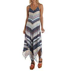616b256dd2d Strappy Handkerchief Maxi Dress  Charlotte Russe Summer Dresses