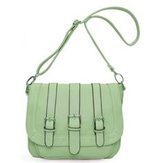 Green Fashion Shoulder Bag With Leather$46 ($46) ❤ liked on Polyvore featuring bags, handbags, shoulder bags, purses, bolsos, bolsas, udobuy, green handbags, leather shoulder handbags and genuine leather handbags