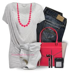 Kate Spade Pink & Grey by casuality on Polyvore featuring polyvore fashion style Bench Burberry Kate Spade New Directions NARS Cosmetics Lord & Berry F rustic