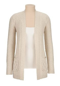 open stitch back cardigan with shimmer - maurices.com