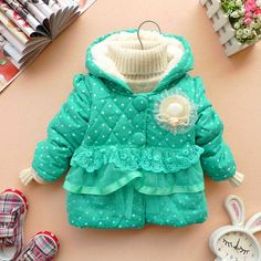 12m3y baby clothes baby girl clothes  winter coat by babygirldress, $21.99
