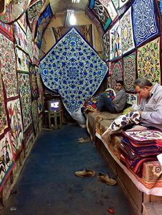 Tent Market , Egyptian folk Art , Elkhyamia , Cairo , Egypt