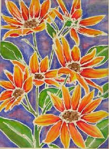 Could Be Watercolor Resist Draw With White Crayon Or