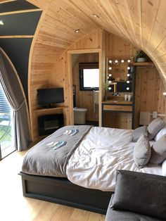 Our Range - Buy Camping Pods for Sale UK - Lune Valley Timber Buildings Cheap Tiny House, Modern Tiny House, Tiny House Plans, Bamboo House Design, Tiny House Design, Arch House, D House, Small Space Living, Living Spaces