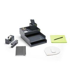 Poppin Dark Gray Dream Desk Accessories Bundle | Cool and Modern Office Supplies #workhappy