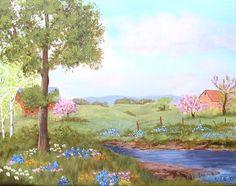 Acrylic spring paintings | Casa de Linda Student Art Gallery: ADULT PAINTINGS - BASIC ACRYLIC ...