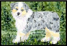 Australian Shepherd Indoor / Outdoor Floor MAT 18 X 27 Inches by Caroline's Treasures. $26.99. INDOOR / OUTDOOR FLOOR MAT This is available in either 18 inch by 27 inch Action Back Felt Floor Mat / Carpet / Rug that is Made and Printed in the USA. A Black binding tape is sewn around the mat for durability and to nicely frame the artwork. The mat has been permenantly dyed for moderate traffic and can be placed inside or out (only under a covered space). Durable a...