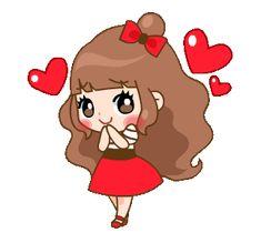 Cherry and Friends Love You Gif, Cute Love Gif, Cartoon Gifs, Cute Cartoon Wallpapers, Gif Lindos, Cat Icon, Emoji Love, Cute Love Cartoons, Beautiful Gif