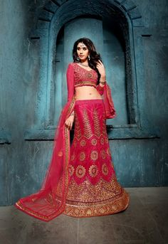 Red with Net Lehenga Choli Online India ,Veeshack.com | Fashion for the World