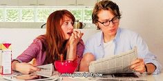 Isn't it so much better to have time to read the news in the morning and go into your day totally informed on the world? Ruby Sparks, Paul Dano, Love Movie, Movie Tv, Movies Showing, Movies And Tv Shows, Quentin Tarantino Pulp Fiction, Zoe Kazan, Film Strip