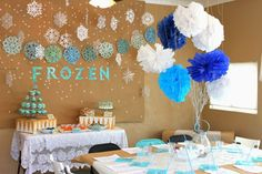 decoracao paea festa tema frozen