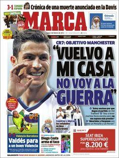 Los Titulares y Portadas de Noticias Destacadas Españolas del 4 de Febrero de 2013 del Diario Deportivo MARCA ¿Que le parecio esta Portada de este Diario Español?