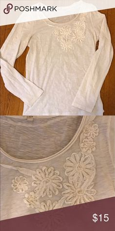 J. Crew embroidered top In great condition. Beautiful top with flower embroidery. J. Crew Tops