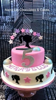 Barbie Popstar cake - Cake by Alana Lily Chocolates & Cakes