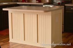 Kitchen island board and batten