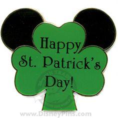 Happy St Patrick's Day Mickey Ears Pin