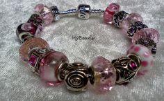 Original Elemento Bead Armband aus rhodiniertem Edelstahl mit Clipverschluss, komplett mit tollen original rhodinierten Metall Beads teilweise mit Kri