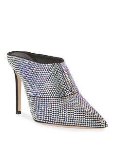 Giuseppe Zanotti Crystal Slide Pointed Mules | Neiman Marcus