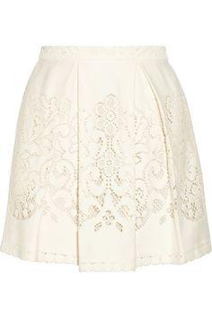 lace mini skirt / sea