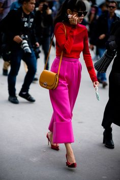 Bold colored looks | For more style inspiration visit 40plusstyle.com