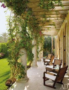 Beautiful veranda by Marshall Watson : Architectural Digest