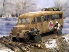 1/35 ambulance stuck