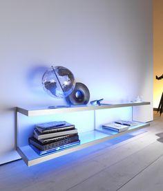 Lighting system 6 Wall shelf by GERA | Illuminated shelving