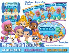 http://www.printnfun.com/store/p174/Bubble_guppies,_Super_Party_Package.html #bubblesguppies #underthesea #mermaids #birthdayparty #printables #imprimibles