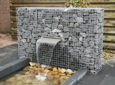 gabion water fountain