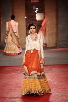 Delhi Couture Week, 2013  Anju Modi kediyu style.